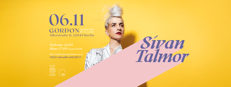 Sivan Talmor - invitation Gordon Cafe 06.11 BANNER1