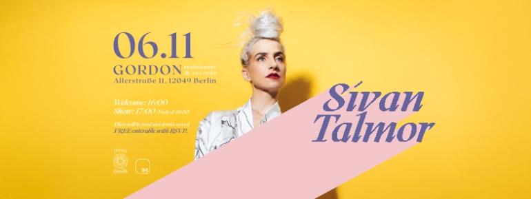 Sivan Talmor - invitation Gordon Cafe 06.11 BANNER1