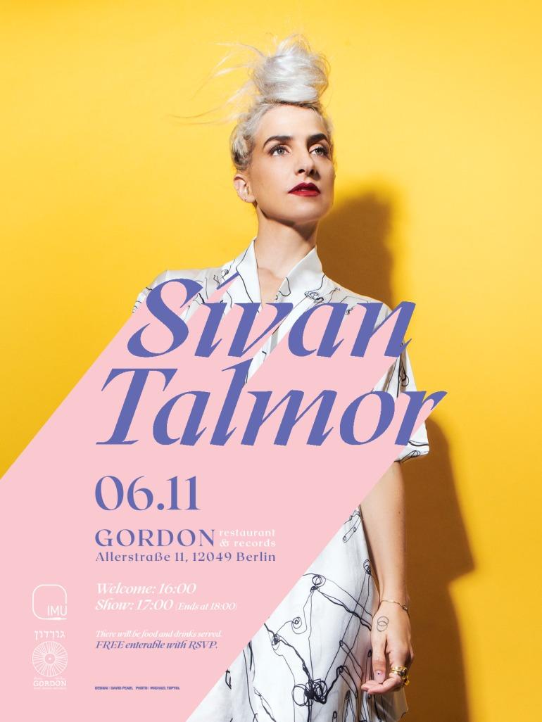 Sivan Talmor - invitation Gordon Cafe 06.11